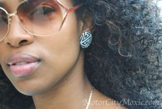 button earring - I love these!