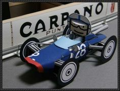 This paper car toy is a 1962 version Lola , the paper model is designed by Ichiyama. The Lola and the derivative were Formula One racing ca Paper Car, Paper Models, F1, Baby Strollers, Templates, Children, Baby Prams, Young Children, Stencils
