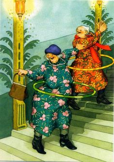 29 Ideas Illustration Art Funny Inge Look Art And Illustration, Illustrations, Old Lady Humor, Art Fantaisiste, Image Originale, Crazy Friends, Young At Heart, Best Friends Forever, World Best Photos
