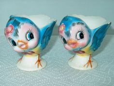 vintag bluebird, bluebird egg, egg cups