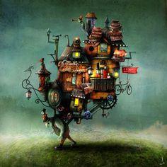 Illustrations transform into magical digital art freelance Sweden artist Alexander Jansson's dream works. He specializes in cover art, illustration, Art And Illustration, Art Illustrations, Art Beauté, Uppsala, Art Studies, Whimsical Art, Art Design, Conte, Surreal Art