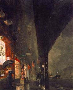 John French Sloan, Wet Night At The Brewery. 1911