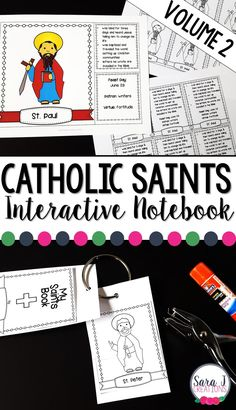 Catholic Saints facts for kids that can be used as an interactive notebook, flip book or flashcards. Catholic Saints For Kids, Catholic Religious Education, Catholic Religion, Teaching First Grade, Teaching Kids, Kids Learning, Ccd Activities, Facts For Kids, Schools First