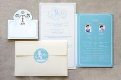 Wedding paper item design by Hozz Design Japan.