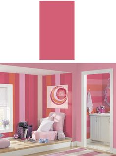 Lipstick Wide Super Stripe PrePasted Wall Border  - Wall Sticker Outlet