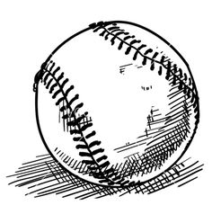 Baseball sketch vector 680874 - by lhfgraphics on VectorStock®