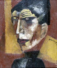 Self-portrait(1919) - Oil on Canvas - Lasar Segall.