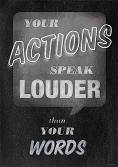 """Your Actions Speak Louder than Your Words""  Inspire your students with the powerful message on this beautifully designed and trendy chalkboard-themed poster!"