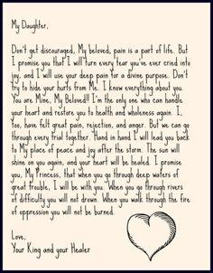 Encouragement love letter from God