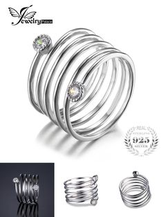 [Visit to Buy] JewelryPalace Trendy Genuine 925 Sterling Silver Anniversary Stackable Band Ring 2016 New Fine Jewelry For Women #Advertisement
