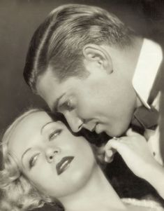 "Carole Lombard y Clark Gable en ""No man of her own"" dirigida por Wesley Ruggles, 1932"