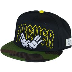 Cayler & Sons Cap Forever black/yellow/camo