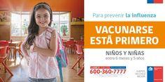 La Influenza es contagiosa y puede causar dificultad respiratoria, diarrea y convulsiones en los niñ@s. Protégel@s!