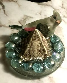 Egyptian Pyramid Decorative Piece by SustainableJewellry on Etsy