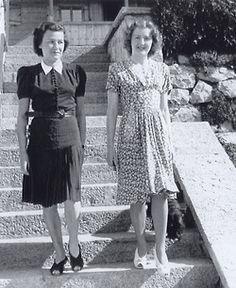 Eva Braun (right) with friend Herta Schneider.