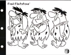 Fred Flintstone Models: In 1996, Craig Kellman was commissioned to redesign the Flintstones licensing guide Alas, it was too late. Seemingly within minutes after publication Ted Turner sold Hanna-Barbera and Cartoon Network to Time Warner and the redesigns were all but lost - seen only in the rarely viewed 2001 special The Flintstones: on the Rocks.