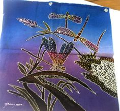 batik panel of dragonflies May 24, 9 Square, Fabrics, Dragonflies, Giveaways, Handmade, Crafts, Craft Ideas, Facebook