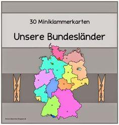 """Ideenreise: Miniklammerkarten """"Unsere Bundesländer"""""""
