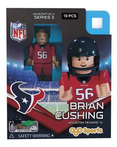 Houston Texans BRIAN CUSHING Limited Edition OYO Minifigure