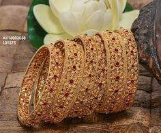 To buy please WhatsApp on 9703870603 Gold Bangles Design, Gold Jewellery Design, Gold Jewelry, Jewlery, Hyderabadi Jewelry, Rajputi Jewellery, Gold Bangle Bracelet, Stylish Jewelry, Jewelry Patterns