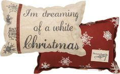 Item # 28208 | Pillow - A White Christmas | Primitives by Kathy