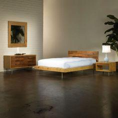 Harris Reclaimed Wood Bed - Unique Modern Furniture - Dot & Bo