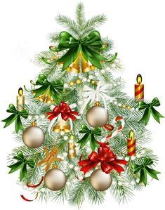 Christmas tree clip art large