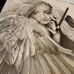 Beautiful Angel Drawing Picture | Imagefully.com | Images, Quotes, Photos, Pictures, Jokes