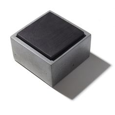 Small Concrete Box With Solid Blackened American by INSEKDESIGN