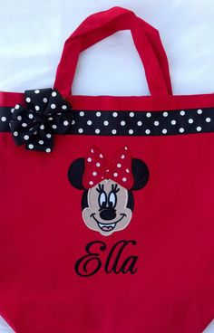 Personalized Minnie Mouse Tote bag by MyDesertCutie on Etsy