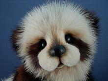 Vintage Mink Bears by Kathy Myers ... mink panda