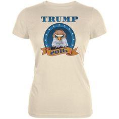 Election 2016 Donald Trump Bald Eagle toupee Cream Juniors Soft T-Shirt