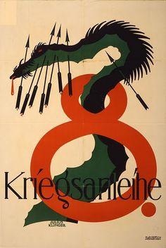 8 Kriegsanleihe (8th War Loan) propaganda poster, 1918