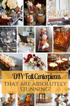 DIY Fall Centerpieces that are just stunning