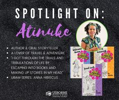 Atinuke - Black Authors from Usborne Books & More – Jaime's Book Corner Community Library, Black Authors, Book Corners, Read Aloud, Worlds Of Fun, Nonfiction Books, Book 1, Hibiscus, Storytelling