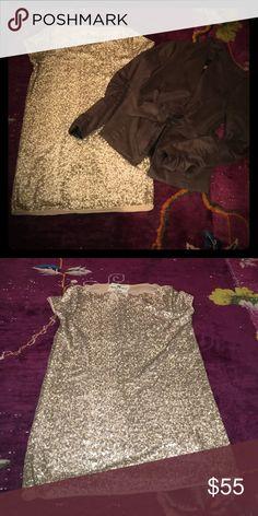 Adele Fado Gold Sequin Dress Adele Fado short gold sequin dress. Made in Italy. Easy maintain - hand wash. Size - It 44. Adele Fado Dresses Mini