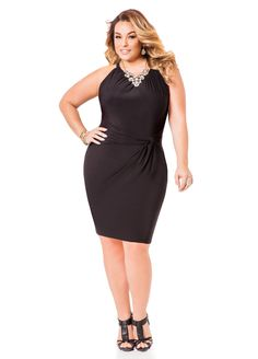 cfe6af10c74 Knot Waist Dress - Ashley Stewart Curvy Outfits
