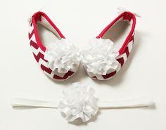 Hot Pink & White Crib Shoes w/Satin Bows & Headband Set Pink White, Hot Pink, Crib Shoes, Satin Bows, Stylish Dresses, Princess, Amp, Accessories, Fashion