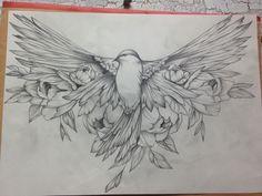 Tattoo birdies ,tattoo ideas - Kunst - Tattoo World Fake Tattoos, Star Tattoos, Flower Tattoos, Body Art Tattoos, Bird And Flower Tattoo, Bird Tattoos, Form Tattoo, Shape Tattoo, Fake Tattoo Sleeves