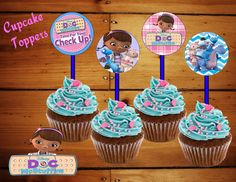 Doc Mcstuffins cupcake toppers