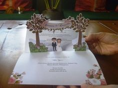 Pop Up Garden-themed Wedding Invitation Visit www. for more pop up wedding invitation ideas