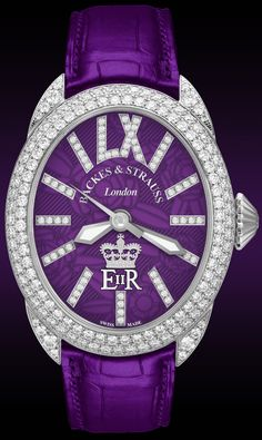 Backes & Strauss Diamond Jubilee Watch Which Uses The Queen's Royal Cypher On It's Watch Face!!