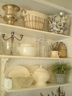 @Shabby Cottage Studio- Gail Schmidt French Cottage I bet I have that many tiny little jello molds and tart tins!