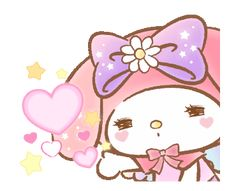 LINE Official Stickers - My Melody: Absolutely Adorable Example with GIF Animation