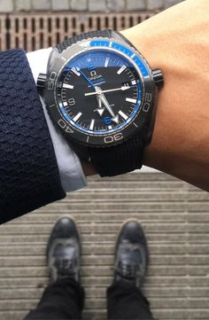 "Omega Seamaster Planet Ocean GMT ""Deep Black"""