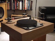 Garrard 301 early grease bearing model on a diy laminated plywood plinth with Ortofon RMG309 and SME 3012 tonearms
