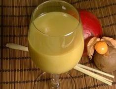 Kiwi-Mango-Smoothie Kiwi, Fondue, Pudding, Cheese, Ethnic Recipes, Desserts, Banana, Mango Smoothie Recipes, Lemon Grass