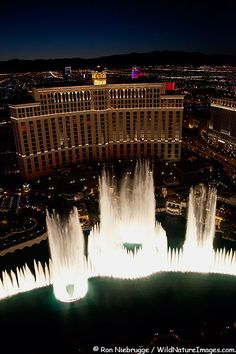 """Bellagio Fountains, Las Vegas.  Went back in the evening and stayed for three different showings of the fountains.  It was just gorgous, even though it was so hot.  A """"not to miss"""" event in Vegas, and perhaps one of the few things I really enjoyed!"""