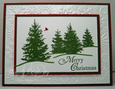 Stamping Styles: Scenic Trees - Scenic Season - Holiday Wishes - Snowflake EF