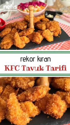 KFC Tavuk Tarifi #nefis #nefisyemektarifleri #nefistarifler #tavuk #tavukyemekleri Baked Chicken Recipes, Pork Recipes, Crockpot Recipes, Dog Food Recipes, Dinner Recipes, Tuscan Salmon Recipe, Food Porn, Good Food, Yummy Food